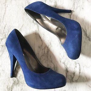 Steve Madden Shoes - Steve Madden Trinitie Blue Suede Pumps